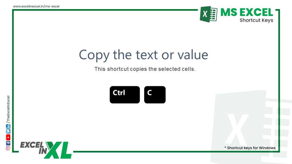 Copy the text or value in a workbook 2