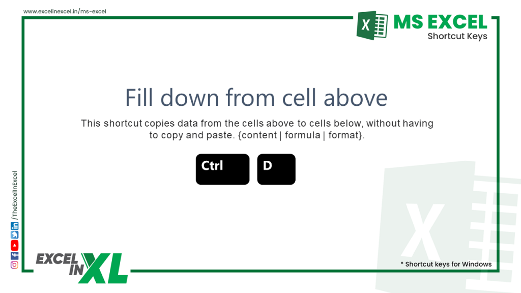 Fill down from the above cell 2