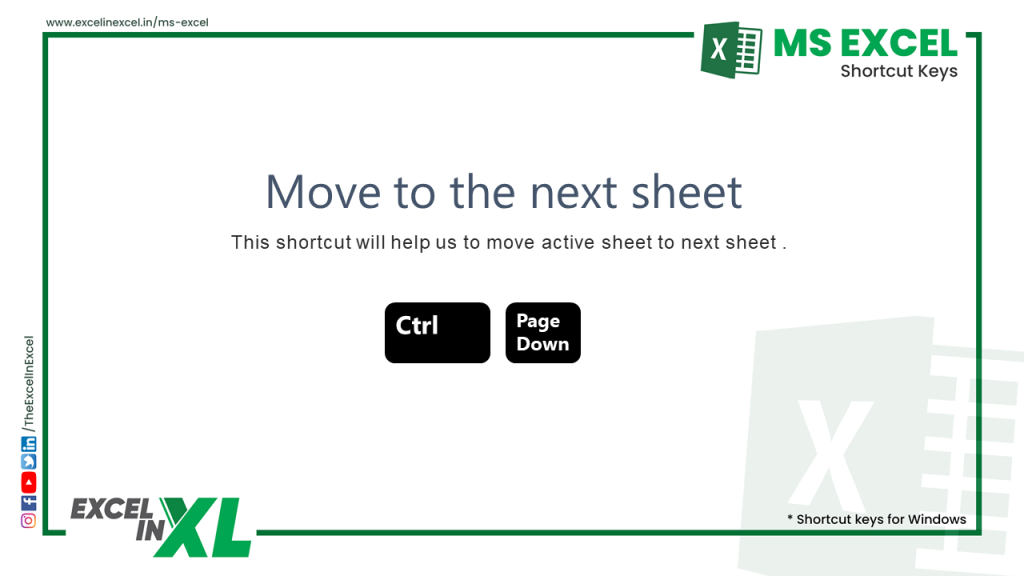 Move to the next sheet 2