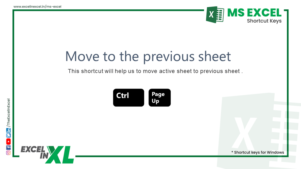Move to the previous sheet 2
