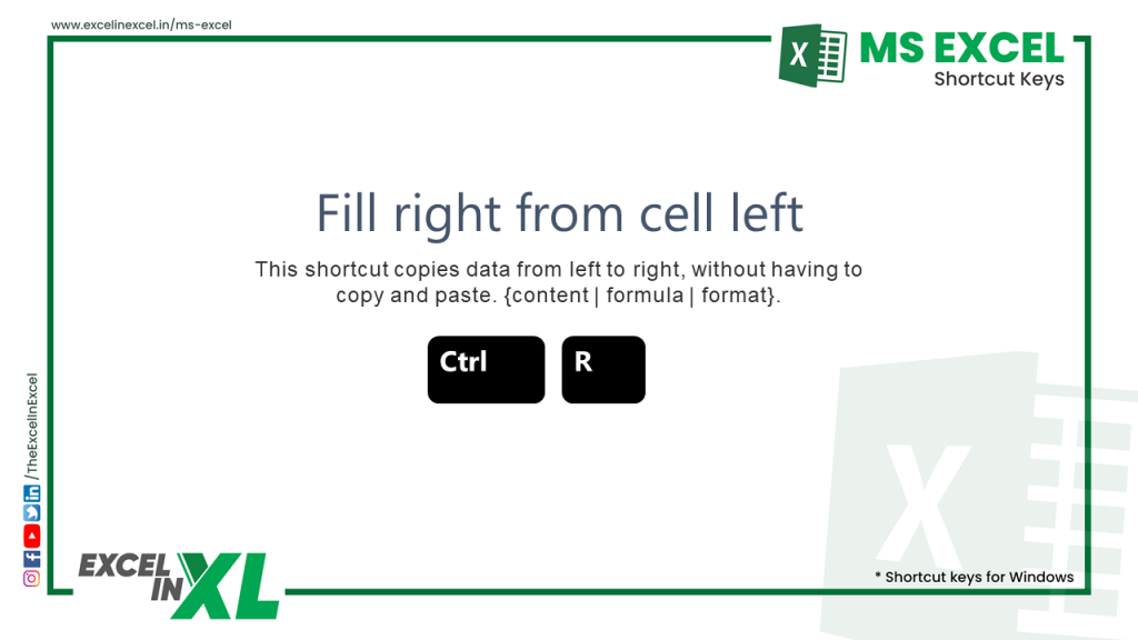 Fill right from cell left 1