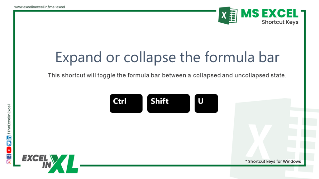 Expand or collapse the formula bar 2
