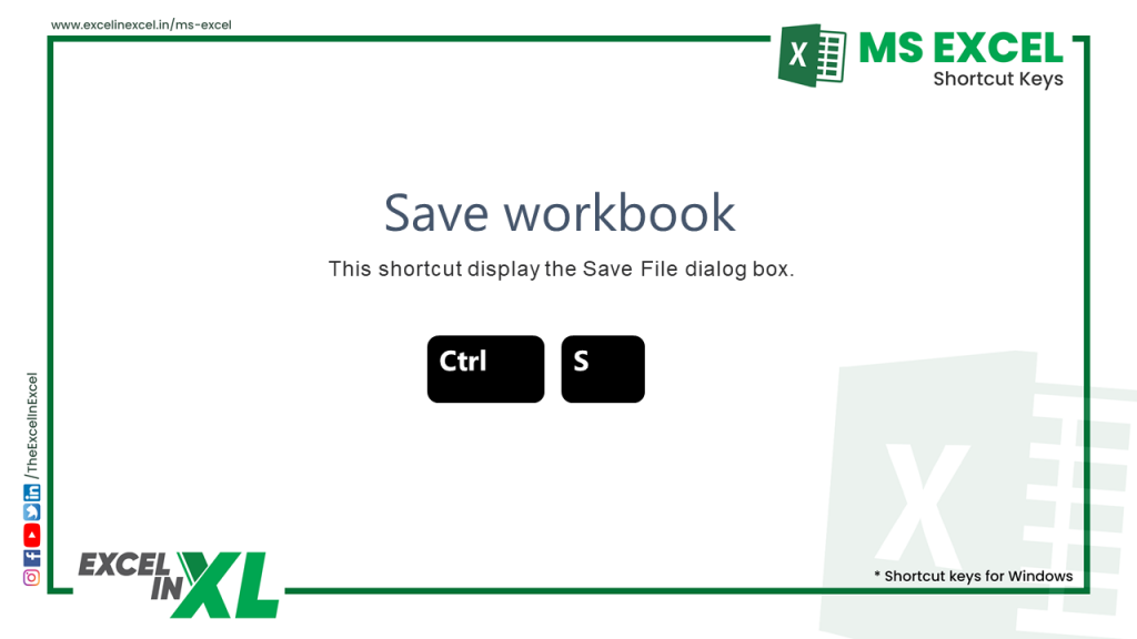 save a excel sheet