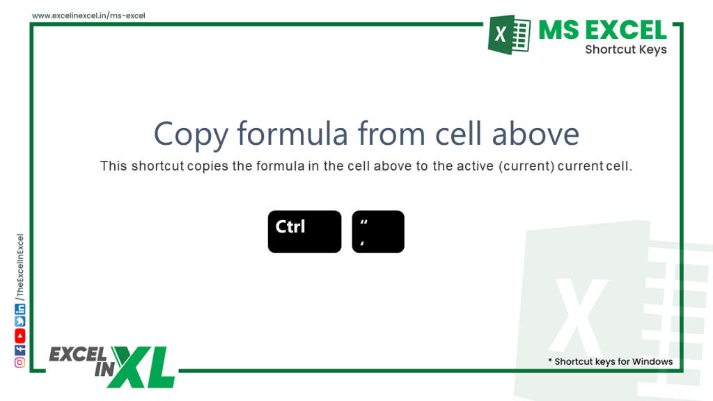 Copy formula from cell above 2