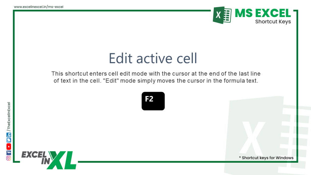 Edit active cell 2
