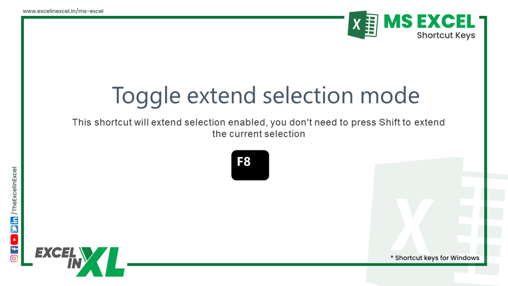 Toggle extend selection mode 2