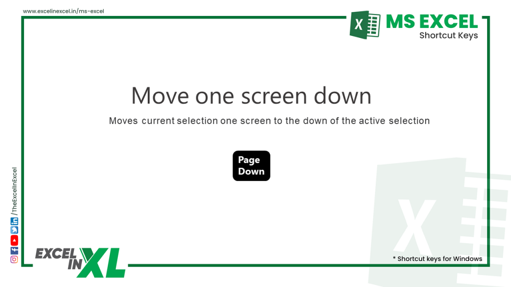 Move one screen down 2