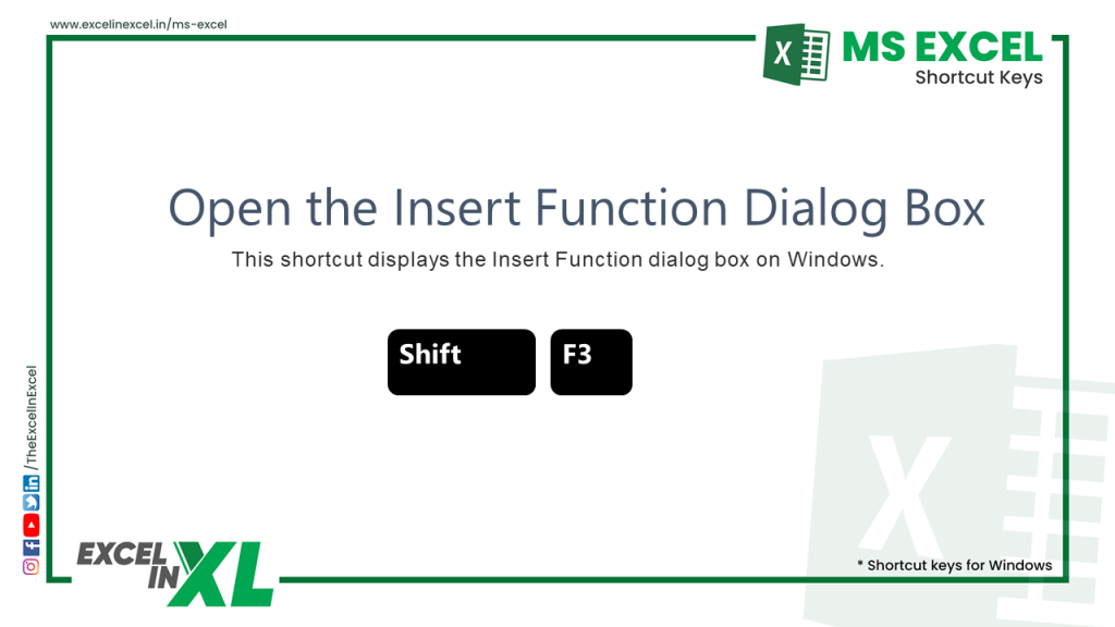 Open the Insert Function Dialog Box 2