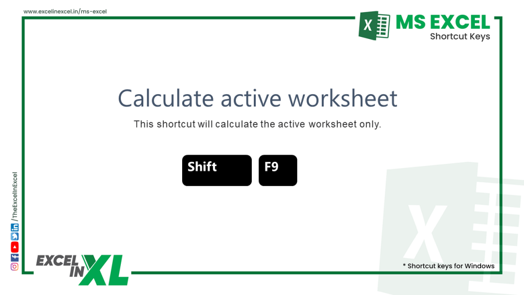 Calculate active worksheet 2