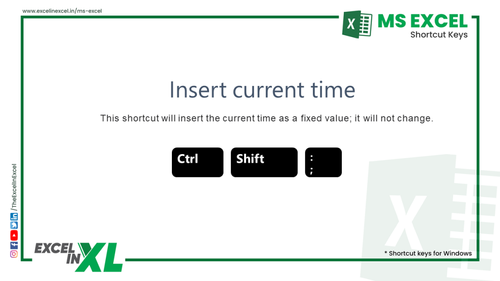 Insert current time 2