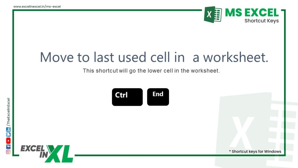 Move to last used cell in a worksheet 2