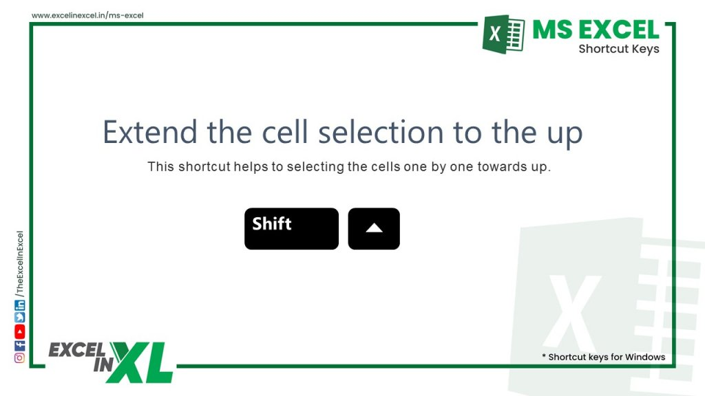 Extend the cell selection to the up 2