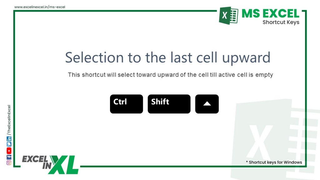 Selection to the last cell upward 2
