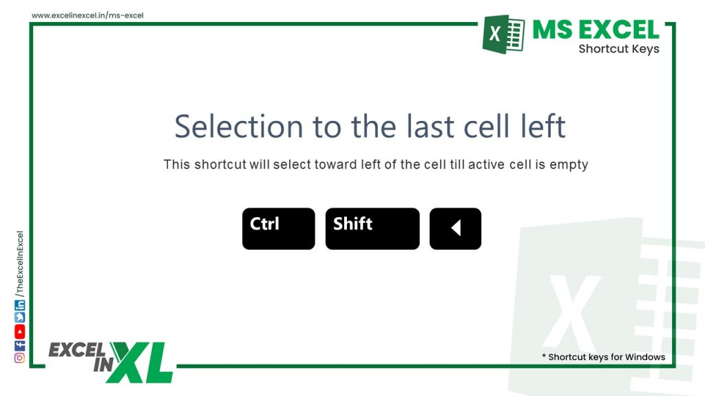 Selection to the last cell left 2