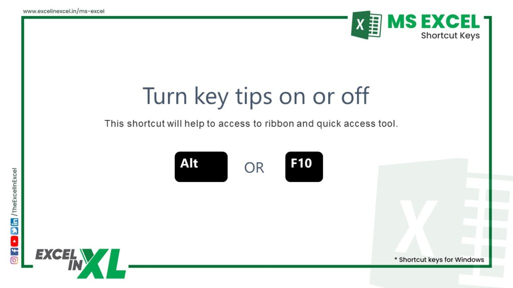 Turn key tips on or off 3