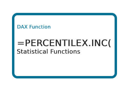 How To Use Dax Percentilex Inc Function Excelinexcel