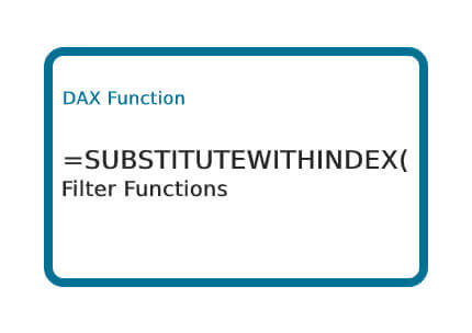 DAX-SUBSTITUTEWITHINDEX-Function