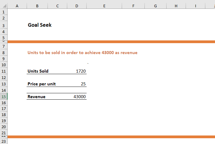 Goal Seek in Excel 6