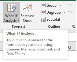 Goal Seek in Excel 2
