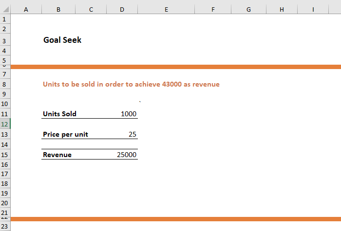 Goal Seek in Excel 1