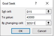 Goal Seek in Excel 4