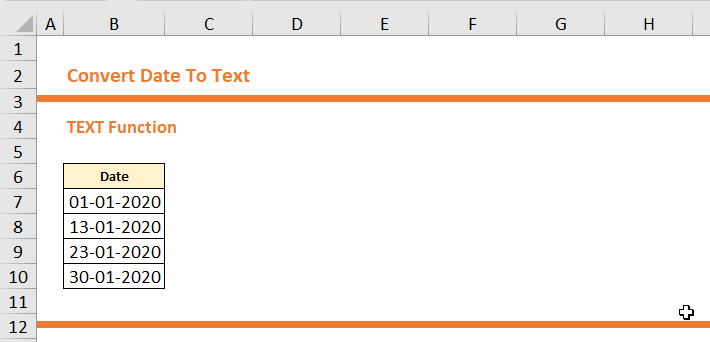 Convert Date To Text