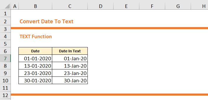 How To Convert Date To Text in Excel 10