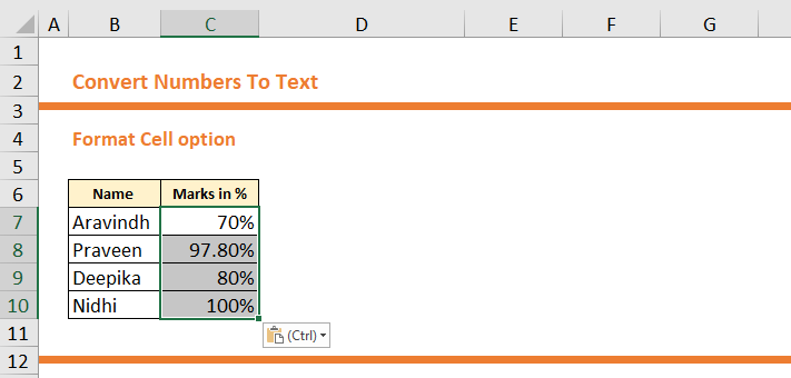 Converting Numbers To Text
