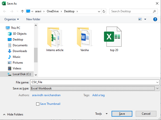 Convert Excel To CSV File