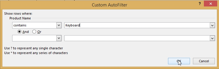 custom autofilter dialogue box with contains option