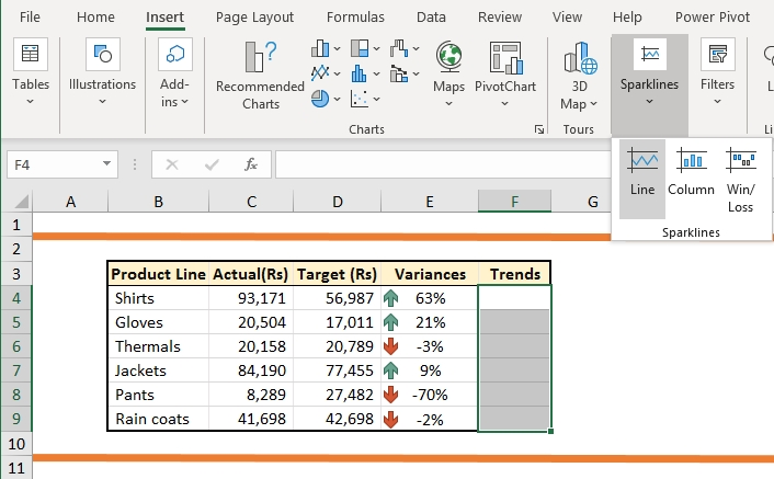 Sparkline and Conditional formatting-08