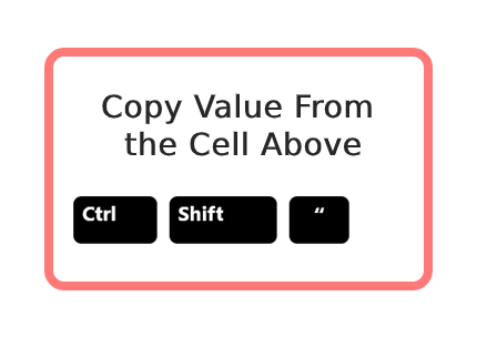 Copy Value From the Cell Above 14