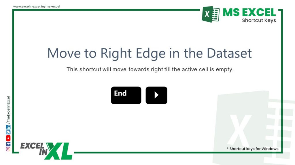 Move to Right Edge in the Dataset
