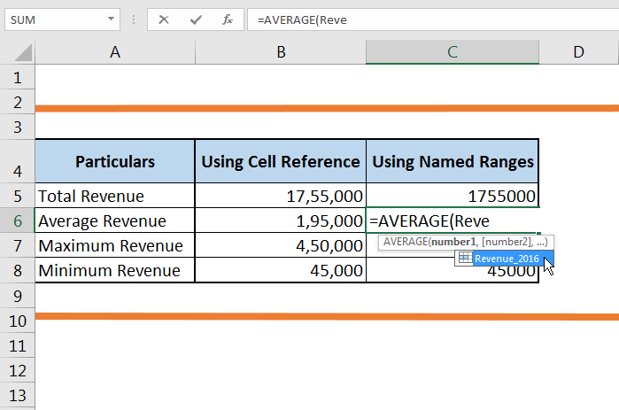 How to create a Named Range in Excel 62