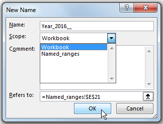 How to create a Named Range in Excel 61