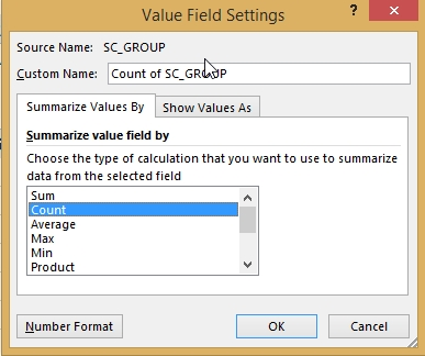 How to Count values in Pivot Table 14