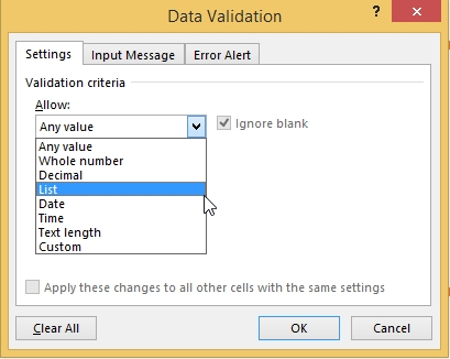 How to Create Dropdown List-Data Validation 4