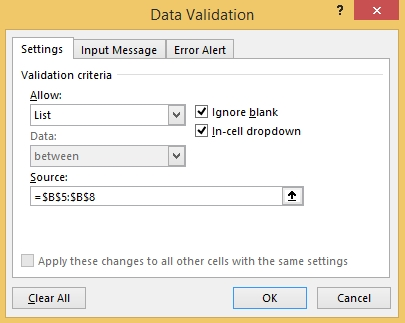 How to Create Dropdown List-Data Validation 6