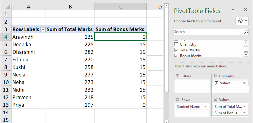 Calculated Field in Pivot Table