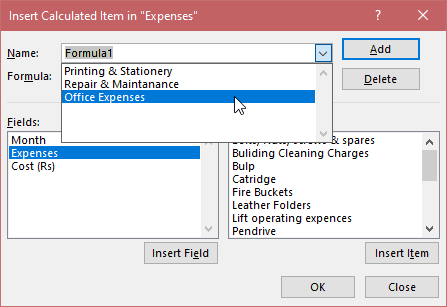 How to Edit a Calculated Item in the Pivot Table? 5