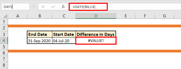 How to use DAYS Function in Excel