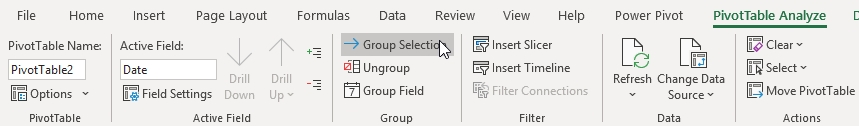 How to Group by Quarters and Years in Pivot Table 9