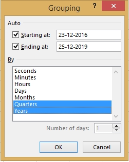 How to Group by Quarters and Years in Pivot Table 10