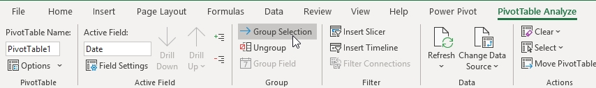 How to use Group by Dates in Pivot Table 64