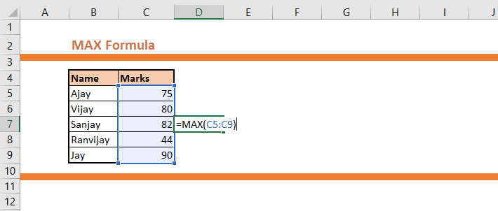 How to calculate the Maximum Value from a Range