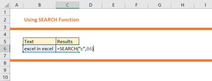 Using Search Function in Excel