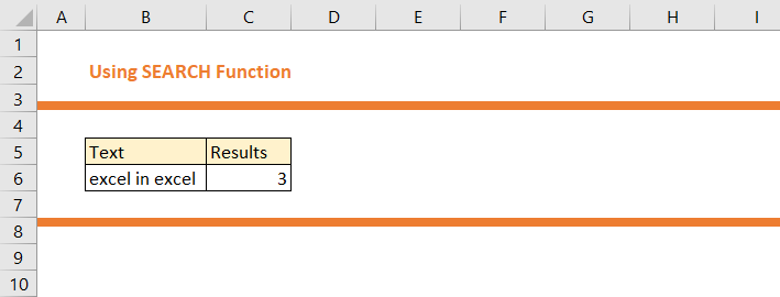 How to use SEARCH Function in Excel 7