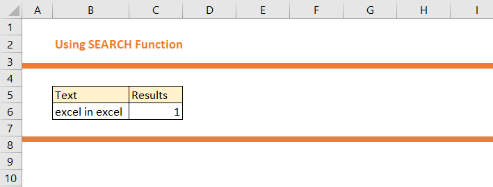 How to use SEARCH Function in Excel 11