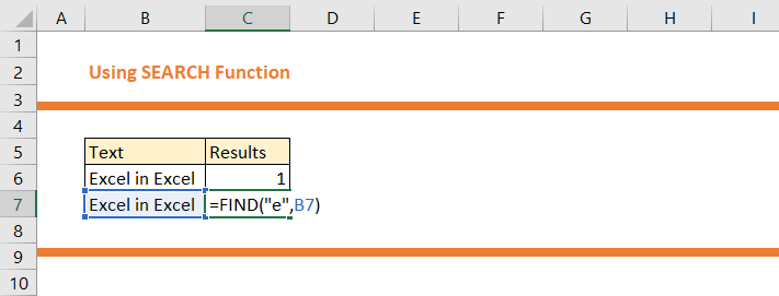 How to use SEARCH Function in Excel 13