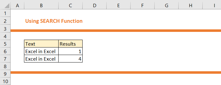 How to use SEARCH Function in Excel 14